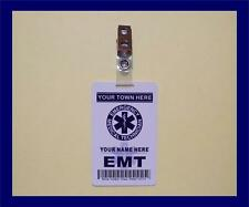 EMT (Emergency Medical Tech.) ID Card   Customize With Your Name & Town   PVC ID