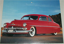 1950 Mercury Coupe car print (red)