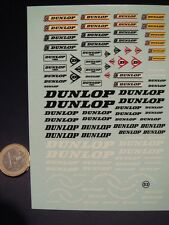 "DECALS 1/24  LOGOS  "" DUNLOP "" - VIRAGES  T53"