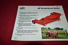 Massey Ferguson 218 Mid Mount Mowers Dealer's Brochure DCPA