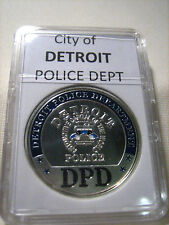 CITY OF DETROIT Police Dept. (Silver) Commemorative Challenge Coin
