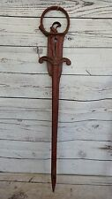 Antique Cast Iron Harpoon Hay Spike ~ Vintage Barn Trolley Primitive Farm Tool