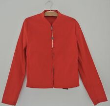 RAF SIMONS mens Body Fit Short Jacket NWT $1380 sz 46 S cotton blend Red