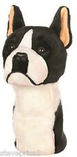BOSTON TERRIER PALO DRIVER GOLF HEADCOVER BY DAPHNE. NUEVO CON ETIQUETA