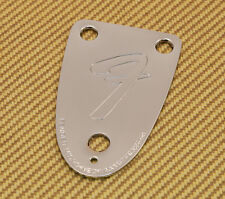 "005-5259-000 Fender Bass 3 Bolt Logo ""F"" 70s Style Tilt Chrome Neck Plate"