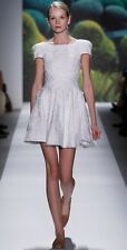 Tibi Jules Lace Eyelet Dress Ivory Cap Sleeve Size 4