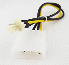 2 pieces Molex IDE 4 to 3-pin CPU/Chasis Fan Power Cable Adapter