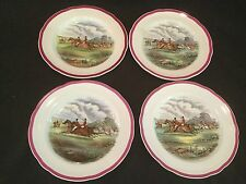 RARE RED RIM COPELAND SPODE HERRING HUNT 1 SALAD PLATE THE FIND