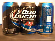 2015 Bud Light NFL Tampa Bay Buccaneers 12 oz can bottom opened #665032