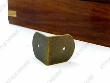 22x22mm BRONZE FINISH METAL CORNER PROTECTOR ROUNDED BRACKETS TRUNK BOX, 4 PACK