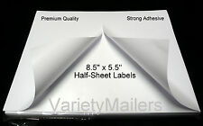 "100 SHIPPING LABELS 8.5"" x 5.5"" SELF ADHESIVE PRINTER PAPER PAYPAL EBAY POSTAGE"