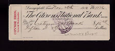 Citizens National Bank Used Check Daingerfield Texas 1913