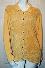 Susan Bristol 1997 Gold Velour Knit Design Cardigan Sz 3W