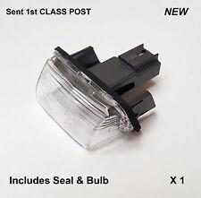 Peugeot 206 207 306 307 308 406 partner arrière plaque d'immatriculation lumière lampe