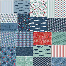 """SQ05 Riley Blake BY THE SEA Precut 5"""" Stacker Fabric Quilting Squares 5-5700-42"""