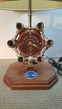 PRATT & WHITNEY MACHINIST INDUSTRIAL MODERN DESK TABLE LAMP CLOCK