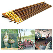 12Pcs Fine Paint Brushes For Acrylic Painter Artists Sizes Brush Painting Set