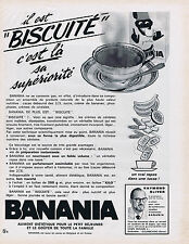 PUBLICITE ADVERTISING 084 1964 BANANIA chocolat biscuité Raymonf Oliver