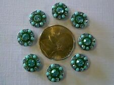 2 Hole Slider Beads Crystal Circles Turquoise Made With Swarovski Elements #8