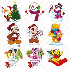 9x Christmas Winter - DIY Iron On Glitter T-Shirt Heat Transfers - New
