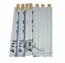 100 Pairs Bamboo Wooden Disposable Chopsticks Individually Wrapped Japanese