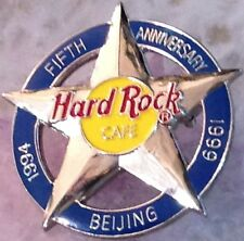 Hard Rock Cafe BEIJING 1999 5th Anniversary PIN 5-Point Silver STAR - HRC #1136