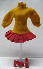 BARBIE DOLL SCOOBY DOO VELMA fits TEEN SKIPPER DRESS/RED CHUNKY MARY JANE SHOES