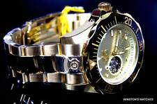 Mens Invicta Grand Pro Diver Automatic NH35A Gold Plated Open Heart New