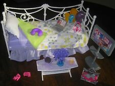 Barbie My Scene Bed Room Purple Furniture Daybed Coffee Table