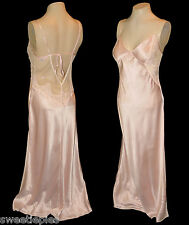 Night Gown, Victoria's Secret, Long Pink Lace Sequins strappy, S