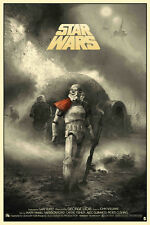 Star Wars Alternative Film Poster Art Reproduction Print A4 Canvas Effect Paper