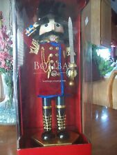 "NUTCRACKER ..BOMBAY 18""  EXCLUSIVE COLECTION SOLDIER SAULUTING & SWORD New Box"