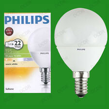 5W Philips CFL Low Energy Round Golf Globe SES E14 Small Screw Light Bulb Lamps