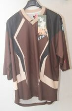 Original maillot motocross moto  THOR Static TAILLE L  marron chocolat  neuff