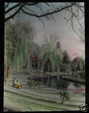 Glass Magic lantern slide AVON RIVER CHRISTCHURCH C1920 NEW ZEALAND