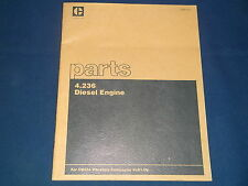CAT CATERPILLAR 4.236 DIESEL ENGINE PARTS BOOK MANUAL FOR CB424 COMPACTOR 6LD1-