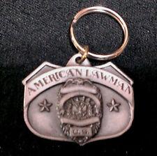 SISKIYOU BUCKLE 1986 AMERICAN LAWMAN PEWTER KEY CHAIN FOB ~~~~~~~~~~~~~~~~~~ NEW