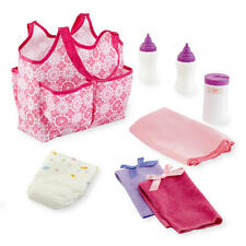 You & Me Baby Doll Diaper Tote Bag with Accessories