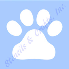 "3"" PAW STENCIL PAWS PRINTS STENCILS TRACK TEMPLATE TEMPLATES PAINT CRAFT #2 NEW"