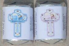 30 PERSONALIZED BAPTISM CHRISTENING COMMUNION HERSHEY NUGGETS FAVORS STICKERS