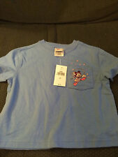 NEW YOUTH DISNEY STORE MINNIE MOUSE BLUE SHIRT TOP T-SHIRT SIZE 2T!
