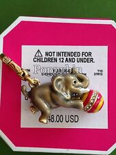BRAND NEW! JUICY COUTURE CIRCUS ELEPHANT BRACELET CHARM IN TAGGED BOX