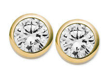 MICHAEL KORS MKJ4704 Gold Cubic Zirconia Crystal Stud Earrings MKJ4704710