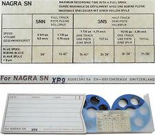 2 BOBINES BLEUES - BANDE MAGNÉTIQUE XP9 pour NAGRA SN ou SNST - BLUE SPOOL