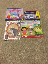 Blue's Clues Book Dora Book Hedgie Book and Leap Frog Game Book (Lot of 4)