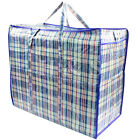 5x Top Quality Strong Reusable Jumbo Shopping Laundry Storage Luggage Bag Zip L