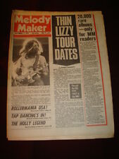 MELODY MAKER 1976 SEPT 11 THIN LIZZY ROLLERMANIA BAY CITY ROLLERS MANFRED MANN