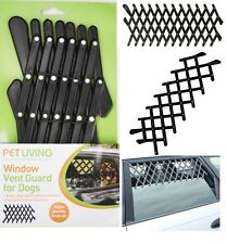 WINDOW VENT GUARD MESH DOG PET TRAVEL REAR CAR UNIVERSAL ADJUSTABLE PET6377