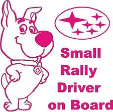 "Subaru STI WRX ""Small Rally Driver on Board"" sticker Impreza WRC Baby Prodrive"