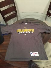 Milwaukee Brewers Majestic MLB Authentic Collection T-Shirt Small